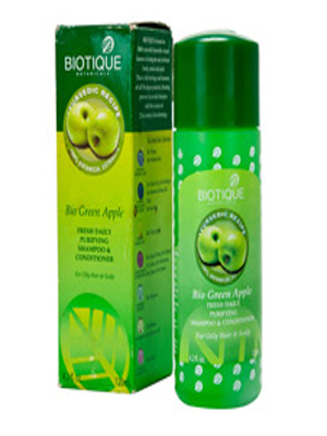 BIOTIQUE BIO GREEN APPLE FRESH DAILY PURIFYING SHAMPOO & CONDITIONER 120ML