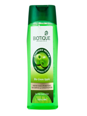 BIOTIQUE BIO GREEN APPLE FRESH DAILY PURIFYING SHAMPOO & CONDITIONER 400ML