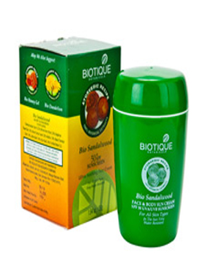 BIOTIQUE BIO SANDALWOOD SPF 50 SUNSCREEN FACE CREAM 50GM