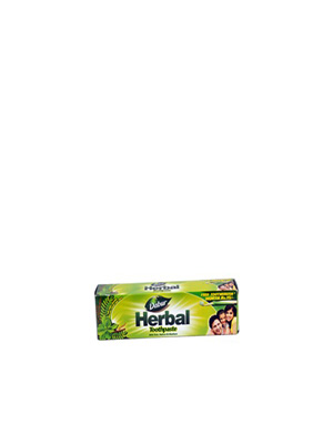Dabur Herbal Toothpaste With Tulsi, Babool & Akarkara