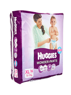 HUGGIES WONDER-PANTS (XL) 16'S