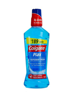 COLGATE PLAX PEPPER MINT MOUTH WASH 500ML