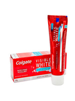 COLGATE VISIBLE WHITE PLUS SHINE TOOTHPASTE 100GM