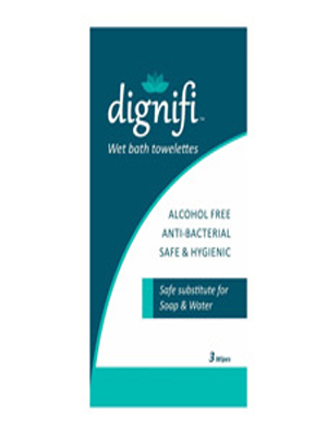 DIGNIFI WET BATH TOWELETTES (PACK OF 3) 5'S