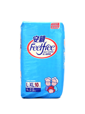 FEELFREE ADULT DIAPERS LARGE 10S