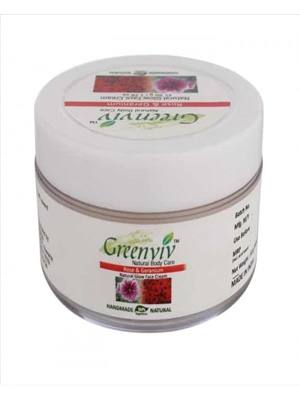 Greenviv Natural Glow Face Cream - Rose & Geranium