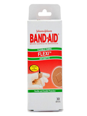 JOHNSON & JOHNSON FLEXI ANTISEPTIC BAND-AID SPOTS 30'S