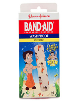 JOHNSON & JOHNSON WASHPROOF ANTISEPTIC BAND-AID 10'S
