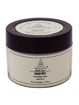 Khadi Face Care - Sandal Olive Nourishing Cream 50g