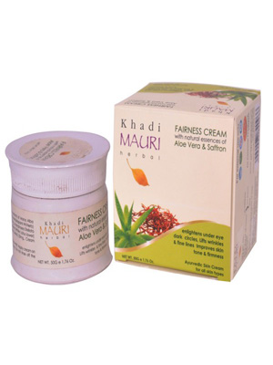 Khadi Face Cream - Khadi Mauri Aloevera & Saffron Fairness Cream