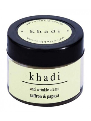 Khadi Herbal Cream - Anti wrinkle with Saffron & Papaya
