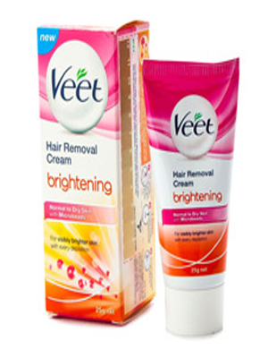 VEET BRIGHTENING NORMAL TO DRY SKIN HAIR REMOVAL CREAM 25GM