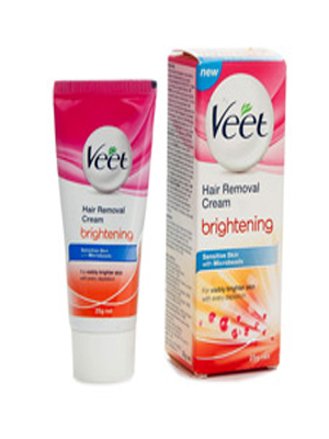 VEET BRIGHTENING SENSITIVE SKIN HAIR REMOVAL CREAM 25GM